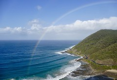 View from Teddy's Lookout on The Great Ocean Road (The Pocket Rocket, On and Off.) Tags: rainbow teddyslookout lorne thegreatoceanroad southernocean victoria australia explore131 abctvweathernews