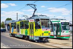 701-2018-06-30-6-Kroatenweg (steffenhege) Tags: magdeburg mvb strasenbahn streetcar tram tramway fahrschulwagen arbeitswagen ckd t6a2 701