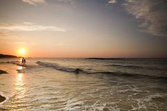 La Ñora (Angel Alonso canon) Tags: playa beach spain samyang sand sea asturias agua atardecer sunset sun water clouds orange