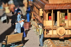 Train Conductor (KaDeWeGirl) Tags: newyorkstate dutchess county rhinebeck pleasant valley train station miniature wood