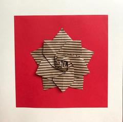 Stripey Sakura Star (anuradhadeacon-varma) Tags: origami papercrafts paperfolding stripey stripes star sakurastar sakura
