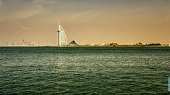 Burj Al Arab (pan shot) Tags: dubaifountain nikond7000 vereinigtearibischeemirate sunset sonnenuntergang vae burjkhalifa panshot dubai burjalarab wasser tamron2470 nikkor emirates dubaimall nikond750