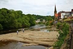 The River Dee (Eddie Crutchley) Tags: europe uk wales llangollen outdoor river water riverdee trees church landscape beauty simplysuperb