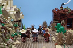The Sheriff gone and chased them boys right outa town. (MinifigNick) Tags: lego afol cowboy cowboys minifignick western