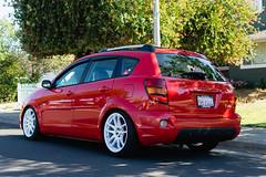 DSC_0674 (jaytotheveezy) Tags: pontiac vibe base lava red 1zz work crkai kiwami ultimate bcracing coilovers toyo tires genvibe
