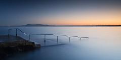 Seapoint Dawn (Kevin.Grace) Tags: ireland dublin seapoint sunset dawn long exposure railings swimming baths