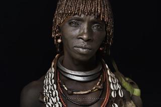Hamer woman. Omo Valley, Ethiopia.