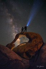 DWTS (Rajesh Jyothiswaran) Tags: alabamahills california dwts formation light milkyway mobiusarch sky astronomy astrophotography nightstars rock