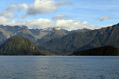 "Mountain view from Lake Manapouri 1 (Christopher M Dawson) Tags: ""milford sound"" manapouri lake scenery nature wilderness mountain fiord sound ©2018cmdawson dawson travel international foreign tourism adventure new zealand ""new zealand"" sightseeing landscape water waterscape unesco peak"