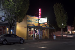 Nobody Puts Totcho In A Corner (Curtis Gregory Perry) Tags: olympia washington cafe king solomon reef restaurant night neon sign long exposure car toyota way street auto automobile nikon d810 nobody puts totcho 4th avenue corner