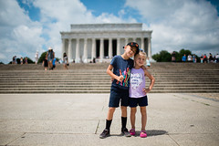Wyatt & Soleil [06.21.18] (Andrew H Wagner | AHWagner Photo) Tags: 5dmk3 5d3 5dmkiii 5dmarkiii 5dmark3 canon eos 35l 35mm f14 f14l family portrait people kids dc washingtondc districtofcolumbia lincolnmemorial memorial nationalmall childphotography siblings