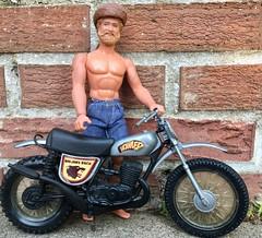 Tribute to Daredevil Sindy! (atjoe1972) Tags: bigjim mattel toys pack howler motorcycle hasbro sindy daredevil scooter moonshine harddrinking atjoe1972 strawberrykiwi hardriding soda pop marx grizzlyadams tv daisydukes jorts