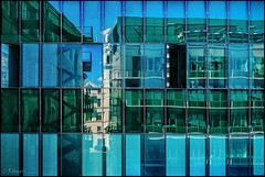 I can never resist a reflection (TheOtherPerspective78) Tags: architecture architektur modern semperdepot vienna wien reflection reflections mirror mirrorimage glass glas window windows fenster spiegelung building urban city blue surface theotherperspective78 canon eosm6 lines