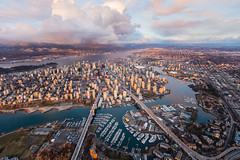 Downtown Vancouver Sunset Skyline Aerial (tobyharriman) Tags: 2017 britishcolumbia adventure aerial art artist bay bc canada canon city cityscape commercial custom falsecreek fineart harbour helicopter landscape outdoor photographer photography photos pictures prints skyhelicopters skyline sunset vancouver