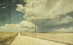 broad reach (jssteak) Tags: canon t1i road easterncolorado storm stormclouds afternoon sky clouds hdr rainaged vintage textured dirtroad