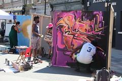 Rise of the nonconformists (ec1jack) Tags: riseofthenonconformists whitecrossstreet party street stlukes oldstreet islington london england britain uk europe summer sunny july 2018 ec1jack kierankelly canoneos600d graffit artist urban art
