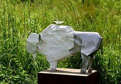 Buffalo (pjpink) Tags: origami sculpture lewisginterbotanicalgarden lewisginterbotanicalgardens lewisginter gardens northside rva richmond virginia june 2018 summer pjpink 2catswithcameras