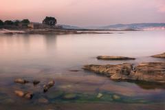 Atardeciendo en Areamilla (kiko_-46-) Tags: paisajescosteros paisajes puestasdesol efectos playas largaexposicion cangas pontevedra españa