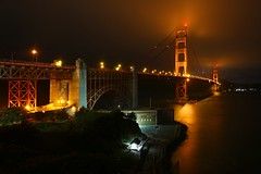 Golden Gate Bridge (Steve O'Day) Tags: california goldengatebridge pacificocean water timelapse bridge gateway sanfrancisco west fog photography canon san francisco