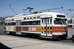 US CA San Francisco MUNI 1134 3-22-1980 Jack Garcia Photo (David Pirmann) Tags: tram trolley streetcar transit california ca sanfrancisco muni marketstreetrailway pcc