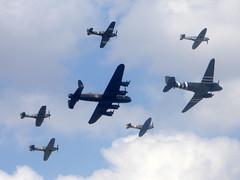 Battle of Britain Memorial Flight - Royal Air Force RAF Fairford 14Jul18 a (kerrydavidtaylor) Tags: ffd egva royalairforce c47 skytrain riat spitfire hurricane