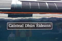 Looks Like Gaelic to me (Chris Baines) Tags: 47717 nameplate gaelic edinburgh castle