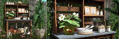 Loft & Aria @ Kustom9 Myna Potting Bench (Colleen Desmoulins / Loft & Aria) Tags: summer kustom9 potting bench garden mesh furniture second life outdoors interior decorating sl exterior