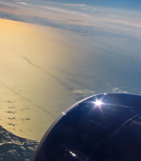 Jet Engine Sun Flare