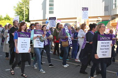 East Dunbartonshire Council Protest. (Paris-Roubaix) Tags: unison unite east dunbartonshire strike protest kirkintilloch council chambers southbank marina