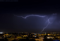 2018.06.21 - 221430 (NIKON D7200) [Amora] (Nuno F. C. Batista) Tags: clouds nuvens amora seixal portugal lusoskies lightning relâmpago thunderstorm trovoada storm night sky nikon severeweather storms photography margemsul skies portuguese meteorology cumulunimbus d7200