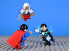 Facing Black Adam (-Metarix-) Tags: lego minifig dc comics comic super hero universe shazam superman black adam custom lightning magic powers alien