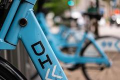 DIVVY bike share in neighborhood rack (paul.wasneski) Tags: bikeshare divvy motivate chicago chitown willistower skyline skyscraper bicycle illinois unitedstates us