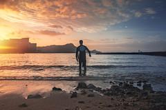 Great Māhele (hitmanfre1) Tags: hawaii oahu waikiki surf surfer surfing ocean water wave waves sea seascape pacific sand beach sky cloud clouds sun sunrise blue red orange nikon d7200