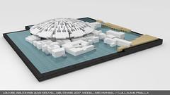 Lego Louvre Abu Dhabi 3 (guillaume.pisella) Tags: lego architecture building art museum abu dhabi saadiyat island cultural district louvre sea dome gallery moc