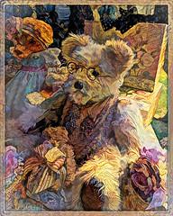 There's no need to dress like everyone else. It's much more fun to create your own look. (Twiggy) (boeckli) Tags: teddy teddies teddybear teddybär spielzeug toy textures texturen texture textur photoborder topazstudio topaz ddg deepdreamgenerator bear animal pattern bär