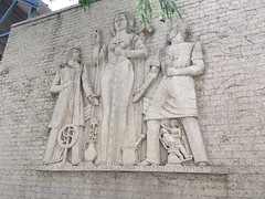 20180709-115649-4 (alnbbates) Tags: july2018 downtowntulsa sculpture art publicart basrelief