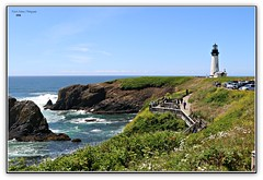 Yaquina Head Lighthouse, take two! (MEA Images) Tags: yaquinaheadlighthouse lighthouses newport oregon architecture nature canon ocean rocks cliffs seascape picmonkey