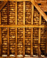 Roof Details (CactusD) Tags: linhof technikardan tks45 5x4 4x5 largeformat large format movements film wood detail details texture textures uk greatbritain great britain unitedkingdom united kingdom england oxfordshire greatcoxwellbarn coxwell barn nikon d800e 85pce 85mmf28pce micro digitized nikkorw210mmf56 210mm f56 f28 85mm provia provia100f fujifilm fujichrome