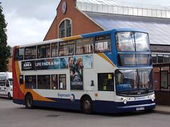Stagecoach Midlands ADL Trident (ADL ALX400) 18410 KX06 JYB (Alex S. Transport Photography) Tags: bus outdoor road vehicle stagecoach stagecoachmidlandred stagecoachmidlands alx400 alexanderalx400 dennistrident trident adltrident adlalx400 routex10 18410 kx06jyb