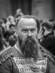 unknown hero (slavamanc) Tags: portrait candid street monochrome blackwhite eyes faceexpression beard city manchester man