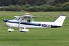 EI-ING - 1981 Reims built Cessna 172P Skyhawk, arriving on Runway 26L at Barton (egcc) Tags: 2084 21stcenturyflyers barton ce172 cessna cessna172 cityairport egcb eiing f172p gbing lightroom manchester reims skyhawk