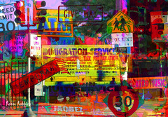 Signs Signs (brillianthues) Tags: signs city philadelphia street urban colorful collage photography photmanuplation photoshop