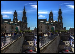 Brühl's Terrace of Dresden 3-D / CrossView / Stereoscopy / HDRaw (Stereotron) Tags: saxony sachsen dresden elbflorenz bruehl terrace brühlsche terrasse elbe architecture barock baroque europe germany deutschland crosseye crossview xview pair freeview sidebyside sbs kreuzblick 3d 3dphoto 3dstereo 3rddimension spatial stereo stereo3d stereophoto stereophotography stereoscopic stereoscopy stereotron threedimensional stereoview stereophotomaker stereophotograph 3dpicture 3dimage twin canon eos 550d yongnuo radio transmitter remote control synchron kitlens 1855mm tonemapping hdr hdri raw