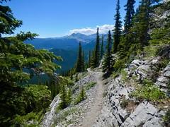 Nihahi Ridge Scramble - The route back down the mountain (benlarhome) Tags: kananaskis alberta canada nihahiridge trail path hike scramble rockies rockymountain