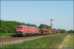 218 in Klanxbüll (Nahebahner_JL) Tags: autozug sylt formsignal db hindenburgdamm v160 baureihe br deutsche bahn diesellok fernverkehr syltshuttle insel