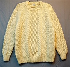 Aran fisherman wool sweater (Mytwist) Tags: donegal ireland fisherman timeless classic vintage cream ivory mytwist itchie cabled chunky dublin passion style fashion unisex weddinggift love weekend casual knitted wool viking bloody foreland superheavy traditional irish knit sweater aran