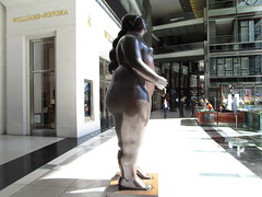 Tall Lady Woman Sculpture by Botero 2018 NYC 3765 (Brechtbug) Tags: woman sculpture by fernando botero colombian artist metal bronze nude female art sculptures front glassed lobby time warner building columbus circle thinker thinking wings nudes architecture statues statue gargoyle gargoyles new york city broadway store shopping center mall heavy zaftig puffy hefty big boned sturdy tall 2018 nyc 06152018 lady
