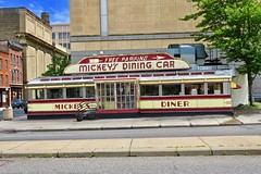 Mickey's Diner, St. Paul, MN (Robby Virus) Tags: stpaul minnesota mn saint paul mickeys diner sign signage dining car railroad train nrhp national register historic places neon architecture commerce restaurant greasy spoon free parking