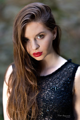 Young beauty (piotr_szymanek) Tags: victoria victoriac portrait woman young skinny outdoor longhair lips eyesoncamera face closeup transparent dress castle 1k 20f 50f 5k 100f 10k 20k 30k