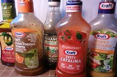 Kraft Dressings (TajPix) Tags: salad vegetarian ingredients